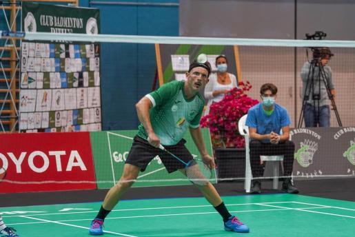 Vicent Martínez durante su partido de dobles.