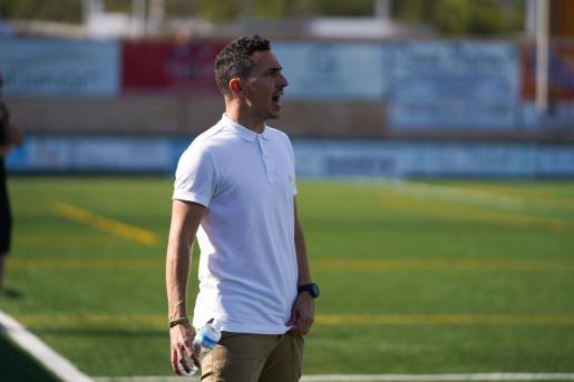 David Escandell, durante el partido Sant Jordi-Mallorca B del sábado pasado.