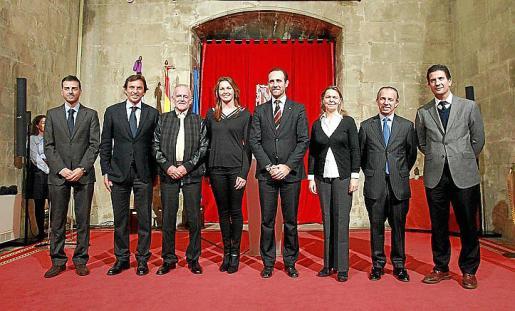Javier Morente, Mateo Isern, Eugeni Costa, Melanie Costa, José Ramón Bauzá, Maria Salom, Carlos Delgado y Fernando Gilet.