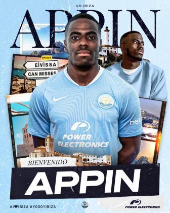La UD Ibiza confirma el fichaje de Kevin Appin.