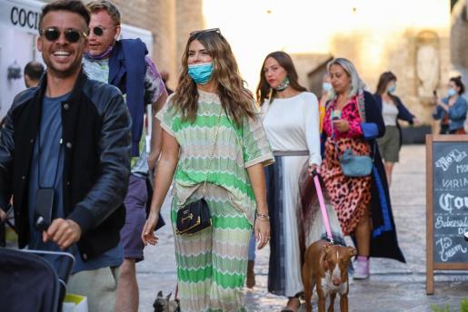 Turistas en la isla de Ibiza.