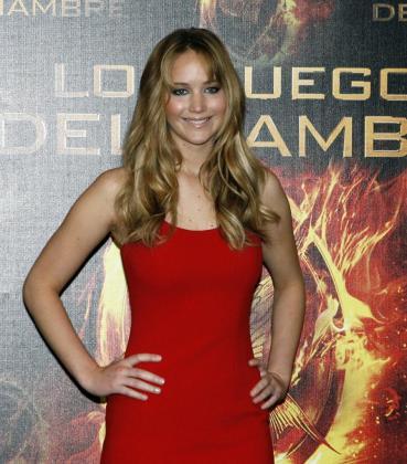 La actriz estadounidense Jennifer Lawrence durante una rueda de prensa en Ciudad de México.