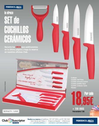 Consigue un set de cuchillos cerámicos firmados por Royalty Line.