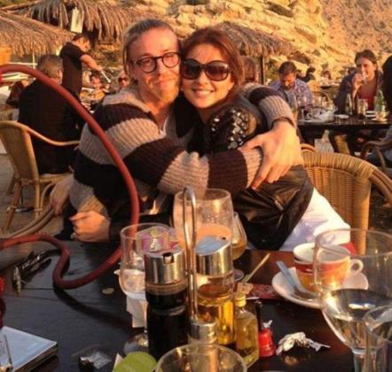 Guti y Romina Belluscio, en una foto tomada en Eivissa el pasado año.