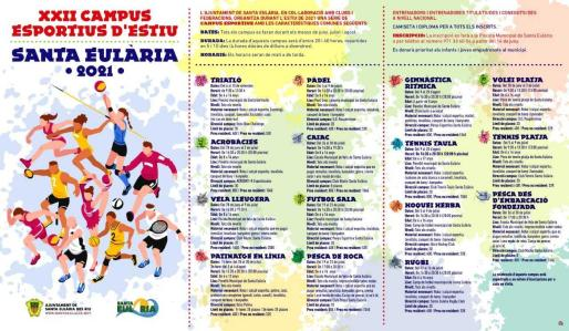 Santa Eulària celebra este verano los XXII Campus Esportius d'Estiu.