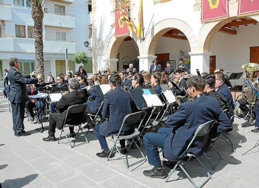 La Banda Municipal de Música de Santa Eulària, uno de los protagonistas de la cita musical, en una imagen de archivo.