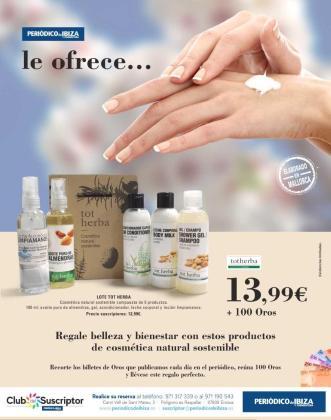 Periódico de Ibiza y Formentera te trae este lote de cosmética natural y sostenible de Tot Herba.
