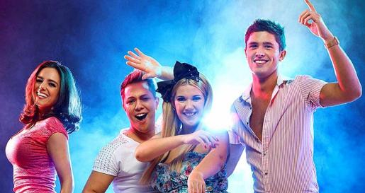 Los cuatro protagonistas de 'The Magaluf Weekender', que se estrenó el 6 de enero en ITV2.