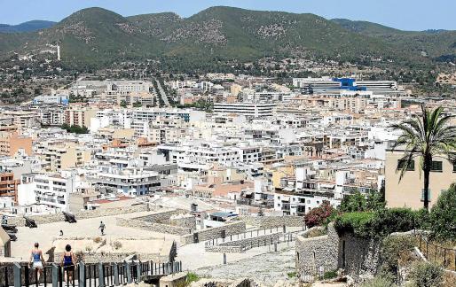 Vista general de la ciudad de Ibiza.
