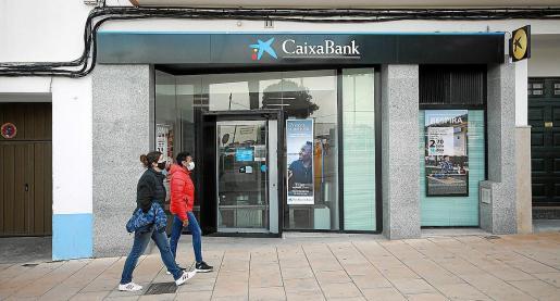 Una sucursal bancaria en Baleares.