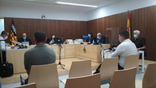 Imagen de la jornada del juicio celebrada este viernes.