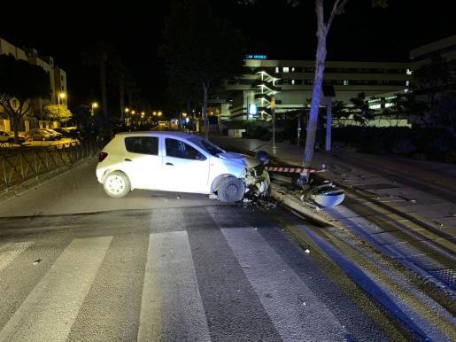Imagen de uno de los siniestros acaecidos la noche del sábado en Vila.