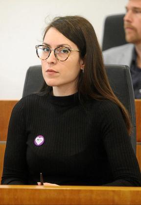 Claudia Cotaina en un Pleno de Vila en 2019.