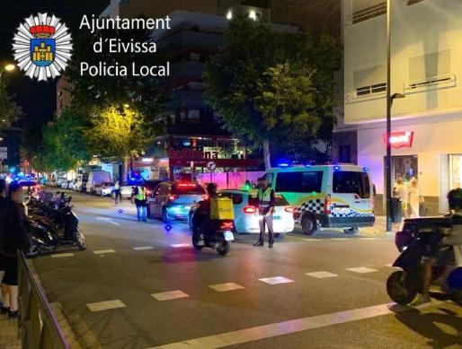 Control de alcohol y drogas en la ciudad de Ibiza.
