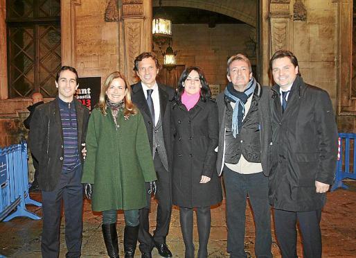 Guillermo Sánchez, Gari Durán, Mateo Isern, Sandra Fernández, Antonio Cardona y Jesús Valls.