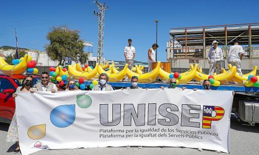 Representantes de todos los sindicatos que forman la plataforma participaron en la tercera gran movilización en Baleares.