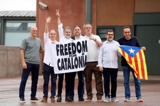 Imagen de archivo de los presos del procés.