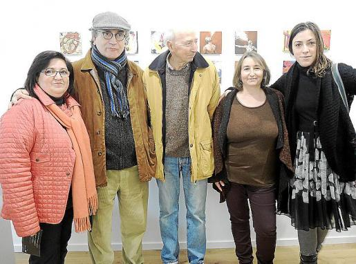 Maria Antònia Bibiloni, Pere Lorente, Toni Jaume, Dolors Pérez y Maria Antònia Mir.