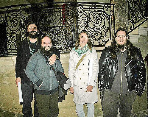 Nick Belone, Pau Escobedo, Mireia Oliver y Marc Reynés, amantes del cómic.