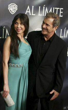 Mel Gibson con su ya ex novia, Oskana Grigorieva.