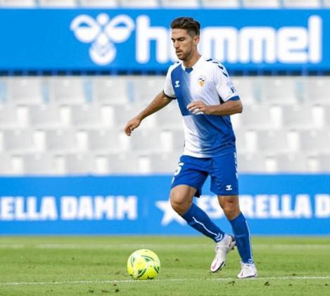 Juan Ibiza, durante un partido de la temporada pasada con el Sabadell.