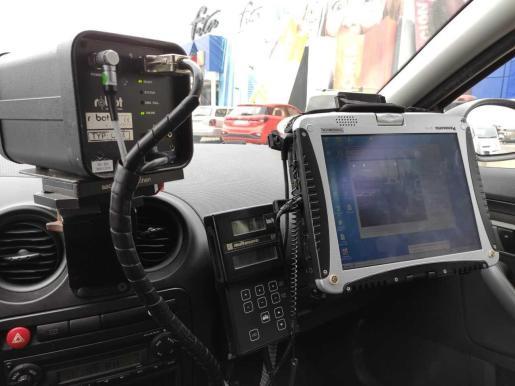 Policía Local de Ibiza participa en la campaña de control de la velocidad de la Dirección General de Tráfico e interpone 220 sanciones.