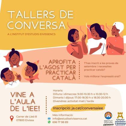 El Institut d'Estudis Eivissencs organiza en agosto sus talleres de conversación en catalán para adultos.
