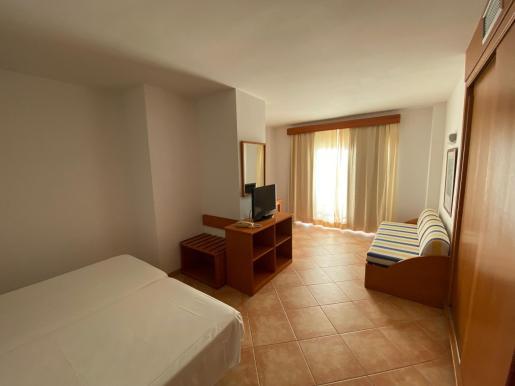 Una habitación del nuevo hotel puente de Ibiza.