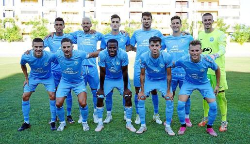 Once inicial de la UD Ibiza del partido disputado ayer.