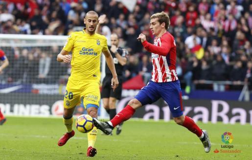 Gálvez, durante su etapa con la UD Las Palmas.