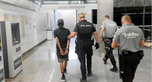 La Policía Nacional detuvo al joven en la Estación Intermodal de Palma en julio de 2020.