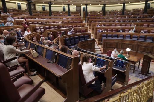 Vista general de la votación del decreto ley de medidas urgentes para reducir la temporalidad en el empleo público.