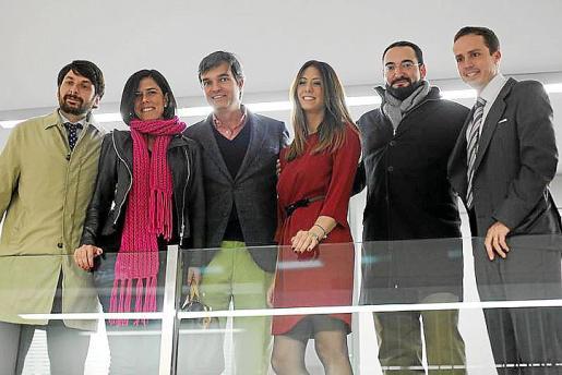 Gabriel Fiol, Carmen Perez de Burgos, Miguel Oliver, Viviana Santisteban, Guillermo Dezcallar y José Maria Castresana.