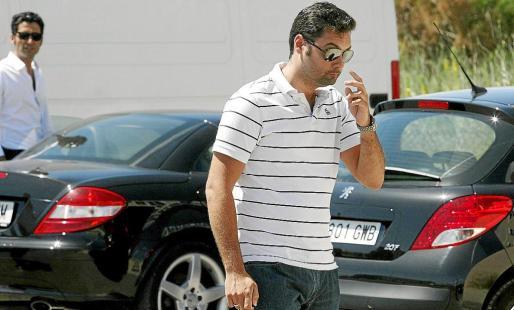 Fernando Ferré, hijo, el día en que se desencadenó la operación policial en GPS.