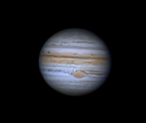 Así se ve Júpiter desde Ibiza.