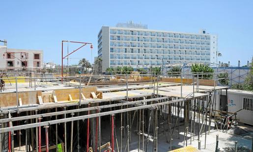 Imagen de archivo de una obra en construcción, en Ibiza.