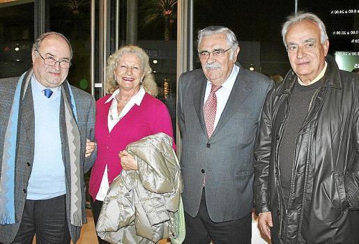 "Joan Oliver ""Maneu"", Roser Colomer, Pere A. Serra y Ramón Perelló."