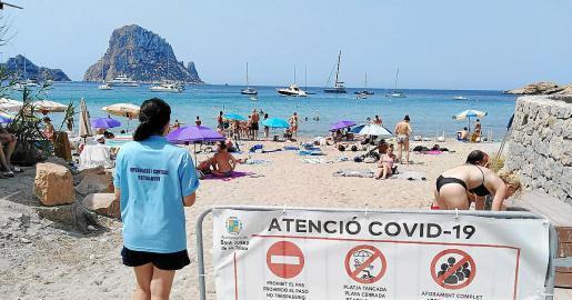 Cala d'Hort será una de las playas de Sant Josep con sensores de aforo.