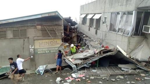 Imágen de archivo de un terremoto en Filipinas.