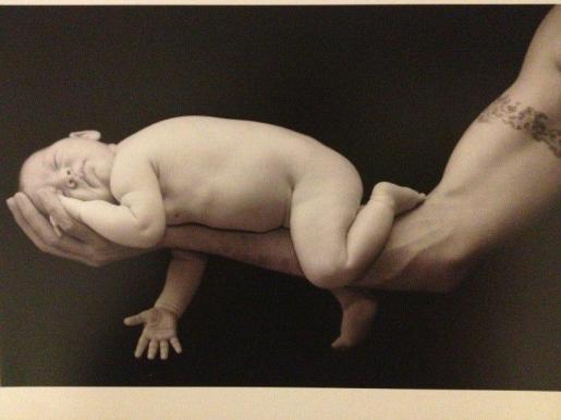 Imagen colgada en Twitter del hijo pequeño de Carlos Moyá y Carolina Cerezuela.