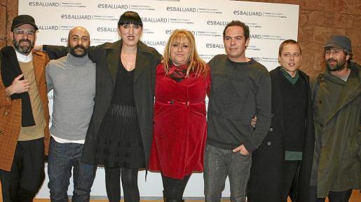 Aurelio López, Manuel Aguilar, Rossy de Palma, Catina Peñafort, Marcos Banez, Elsa Pizá y Cristòfol Socías.
