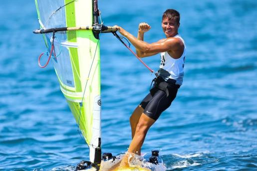 Mateo Sanz celebra una de sus victorias en Enoshima, este domingo.