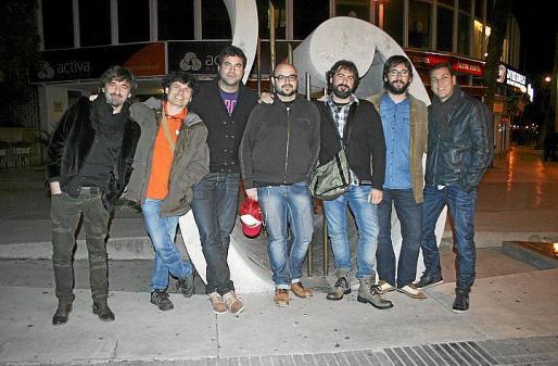 Marcel Cranc, Toni Nicolau, Alberto Feo, Curro Viera, Joan Jaume, Joan Antoni Fuster y Albert Riutort.