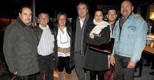 Felip Amengual, Joan Garcías, Gema Gómez, Ramon Servalls, Tonina Bestard, Ricardo Alonso y Jaime Gomila.