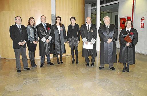 Joan Rotger, Carmen Lliteras, Beatriz Verdera, Margalida Durán, Miquel Massot, Bartomeu Sitjar y Maria Pilar Ferrer.