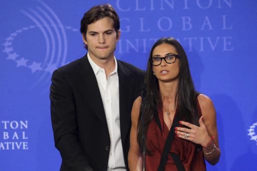 Los actores estadounidenses Ashton Kutcher y Demi Moore, en una imagen de archivo.