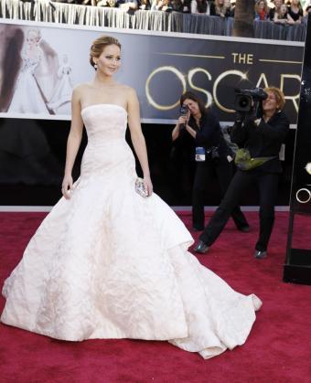 La actriz Jennifer Lawrence, durante la ceremonia de los Oscar.