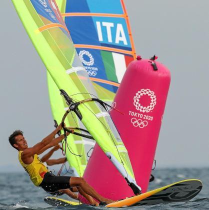 Mateo Sanz, en acción durante la segunda jornada de los Juegos Olímpicos de Tokio.