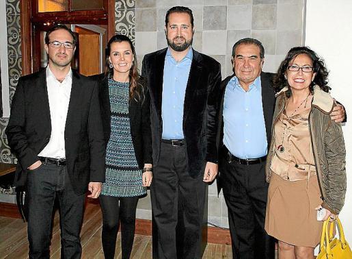 Javier Pomar, Elena Seijas, Toni Dezcallar, Javier Pomar y Ana Vega
