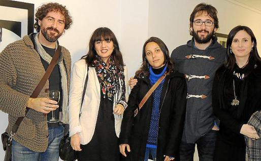 Joan Toni Fuster, Martina Poquet, Dolors Botey, Albert Riutort y Malen Dols.